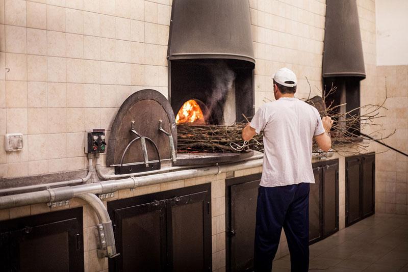 pane di chiaserna - accensione forno